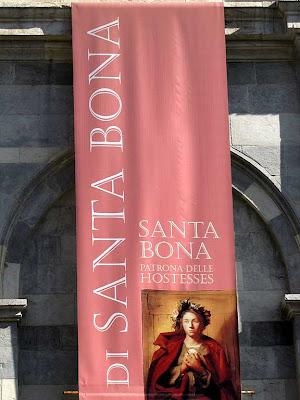 Santa Bona, patron saint of hostesses, Pisa