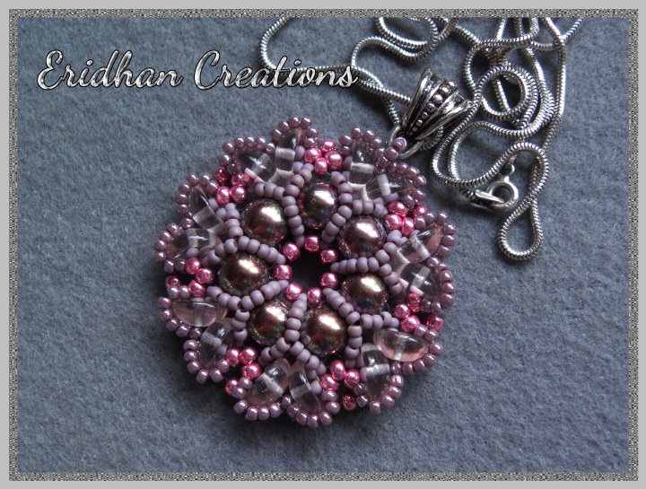 "beaded pendant ""Rosetta"" - tutorial"