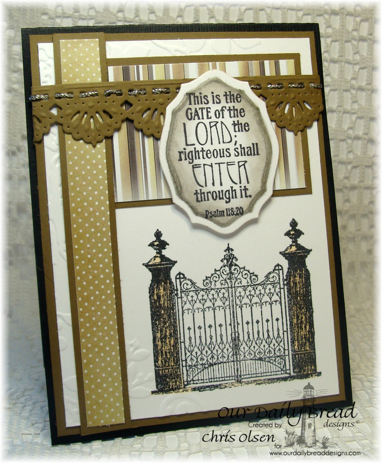 Stamps - Our Daily Bread Designs The Gate, ODBD Winter Paper Collection 2014, ODBD Custom Elegant Ovals Dies