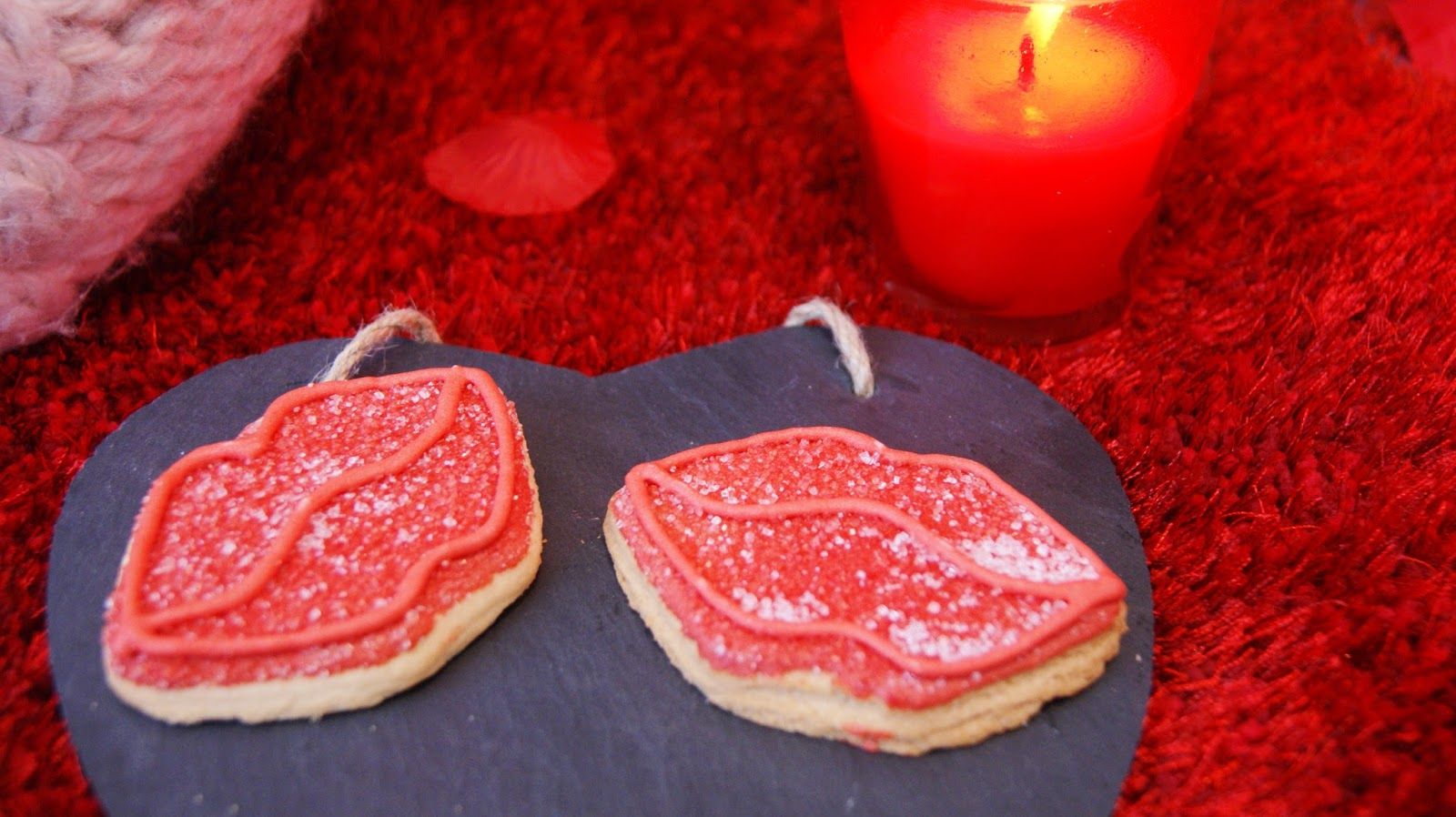 Red Lip Iced Sugar Cookies