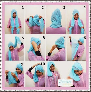 tutorial cara memakai hijab modern paris 2015 contoh tutorial cara ...