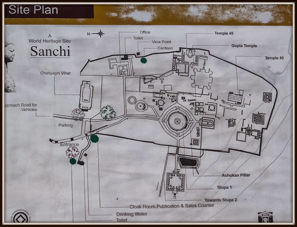 Sanchi Stupa Plan Elevation : The traveller sanchi in search of stupas