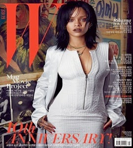 """Rihanna estampa três diferentes capas em edição de aniversário da revista """"W"""" coreana"""