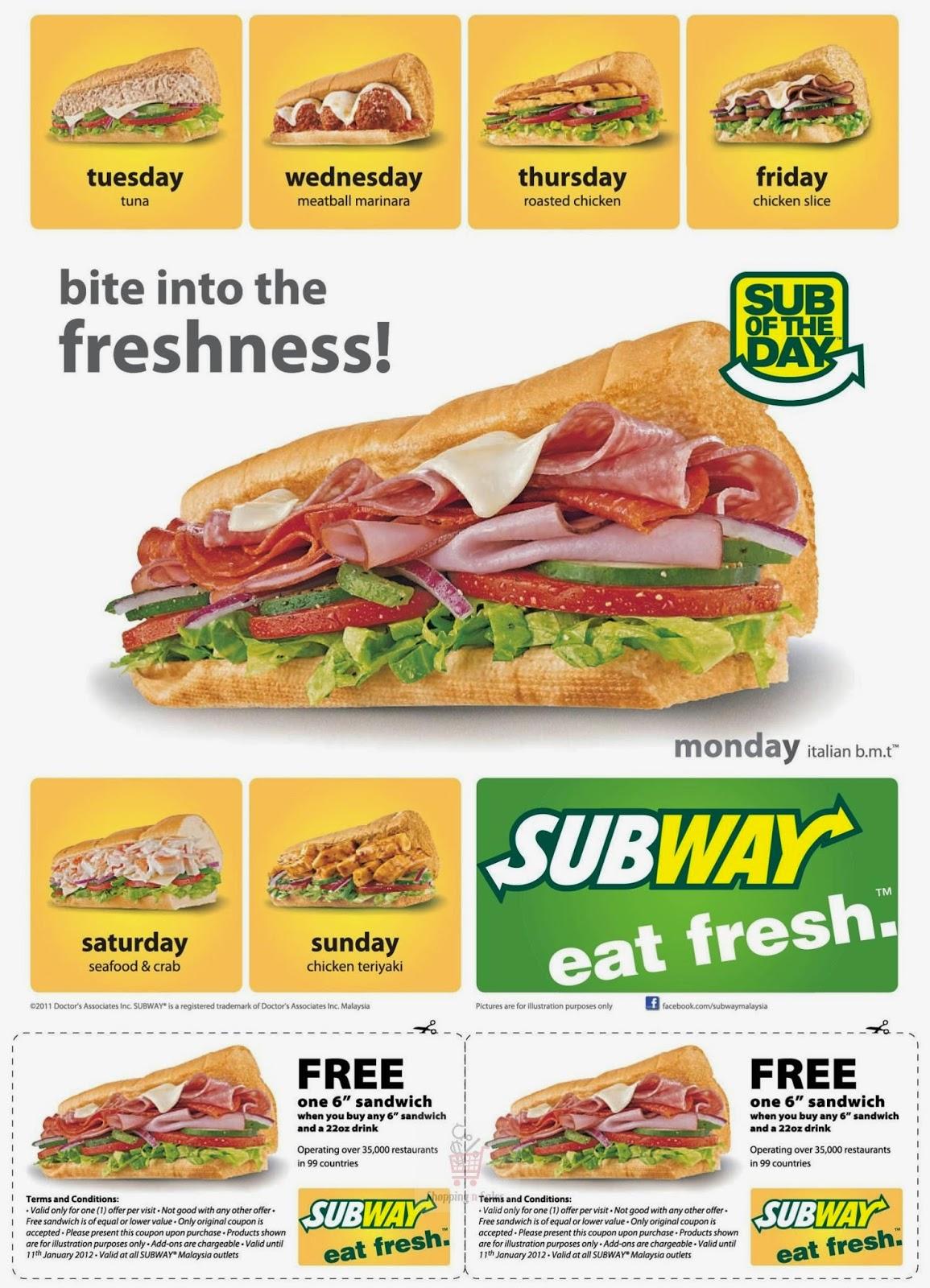 Subway coupons