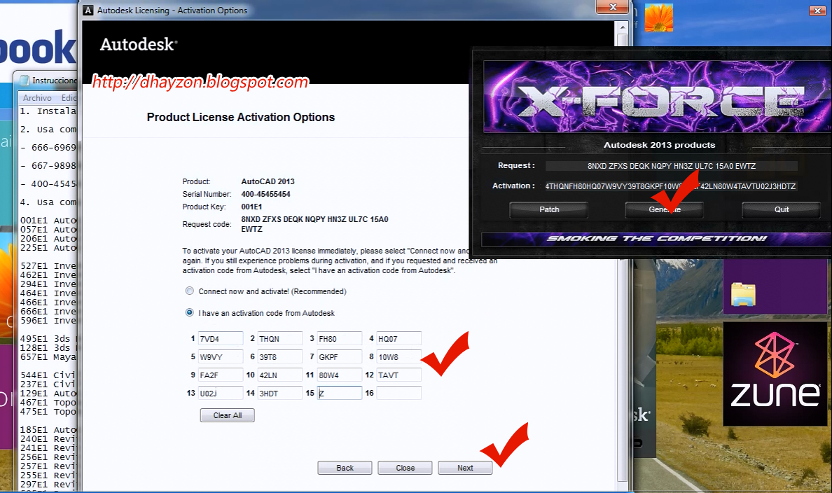 Activation code for autocad 2013