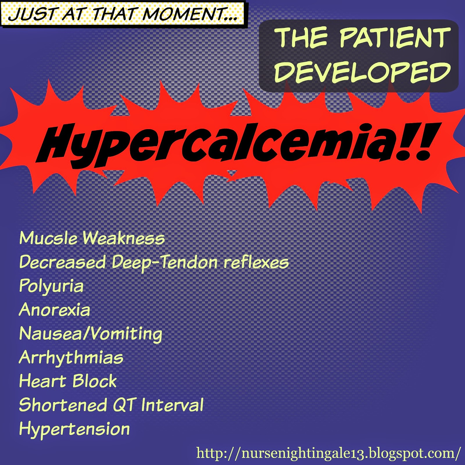 Hypercalcemia, excess calcium, nursing school, nurse, RN, electrolytes, imbalances, cancer, hyperparathyroidism
