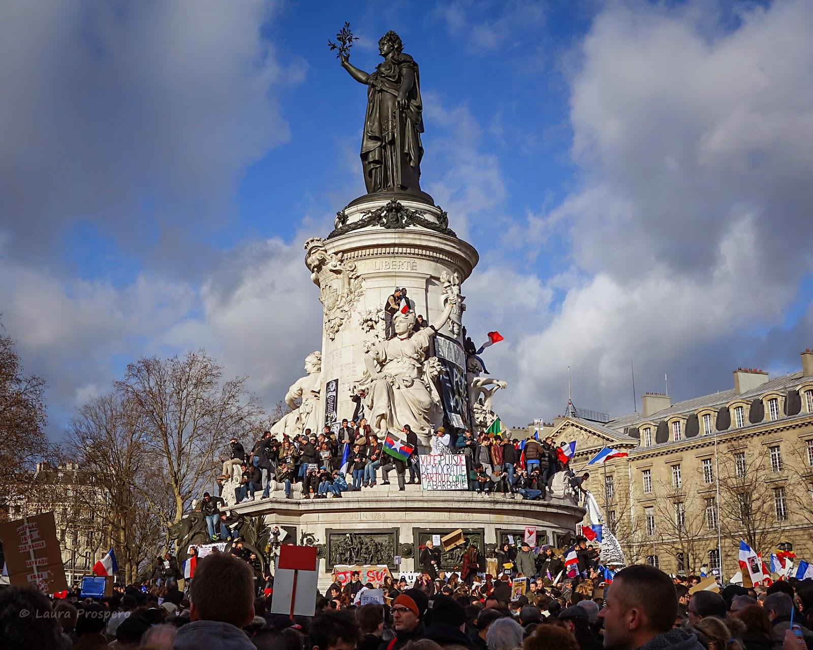 Place de la République - Marche Républicaine 11/01/15 #paris #JeSuisCharlie