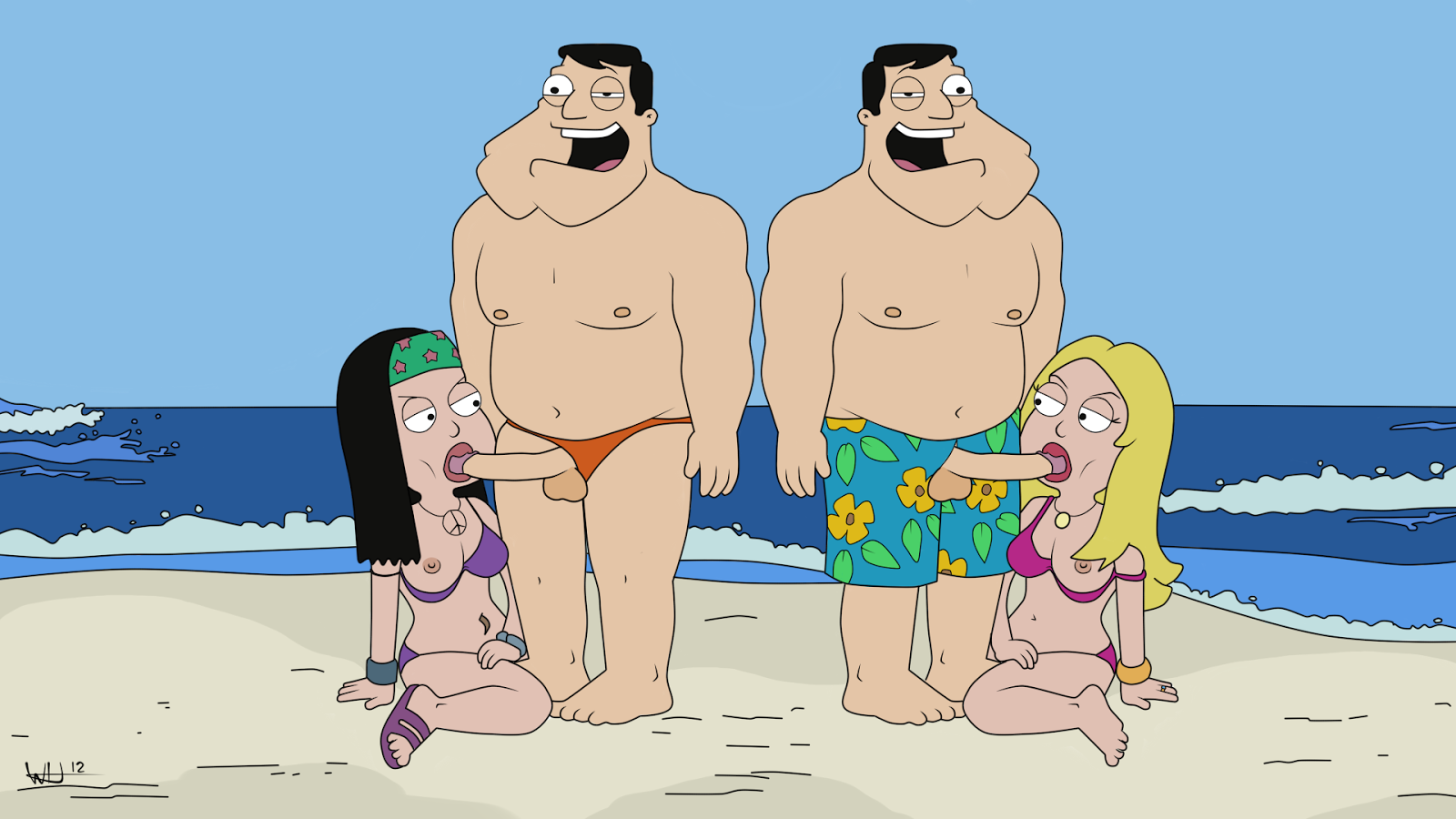 Naked gay stan smith american dad porn