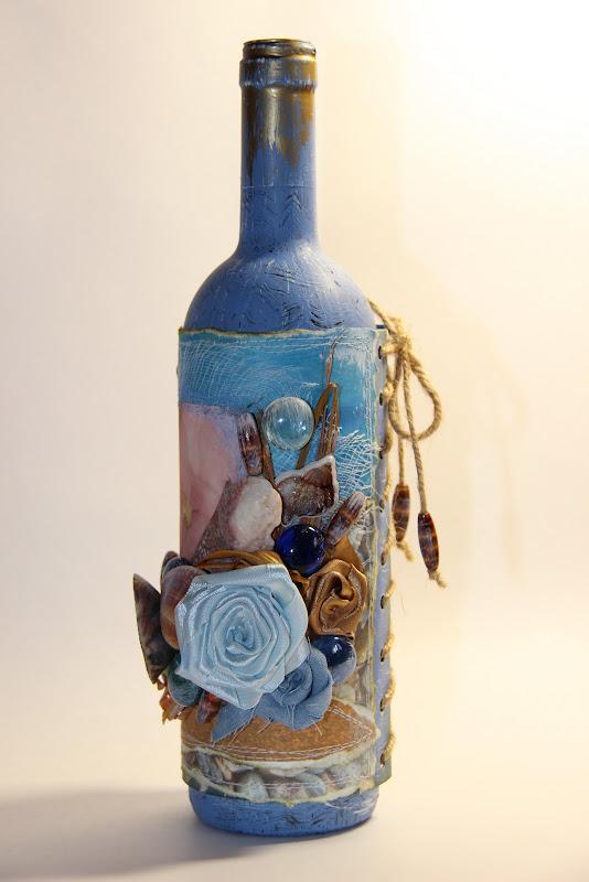 Как украсить бутылку ракушками своими руками 42