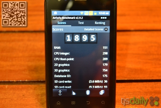 my|phone A818 Duo Review antutu