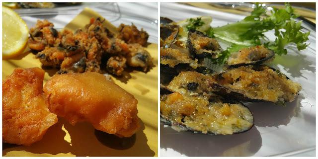 Cozze fritte e gratinate - foto di Elisa Chisana Hoshi