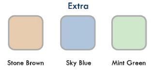 ตัวอย่างสีของฝ้าชายคา ของ extra