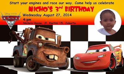 Desain kartu undangan ulang tahun anak lucu dan kreatif