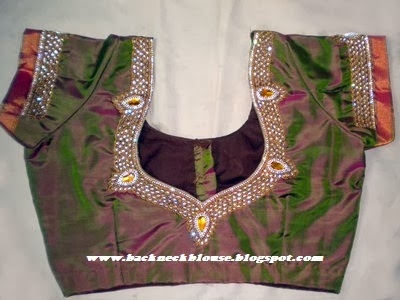 STONE WORK AND MAGGAM WORK BLOUSE