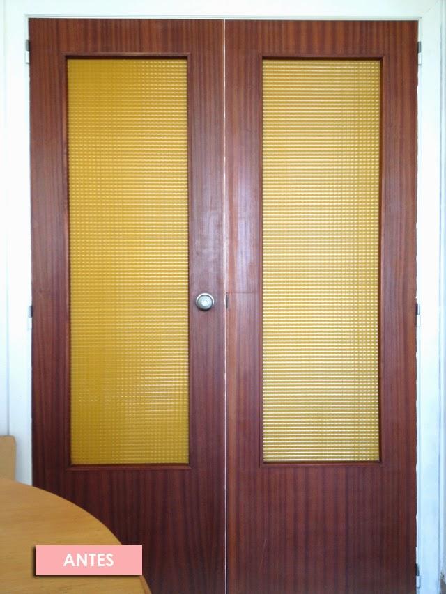 El antes y despu s de las puertas de mi casa de viejunas - Pintar puertas de blanco en casa ...