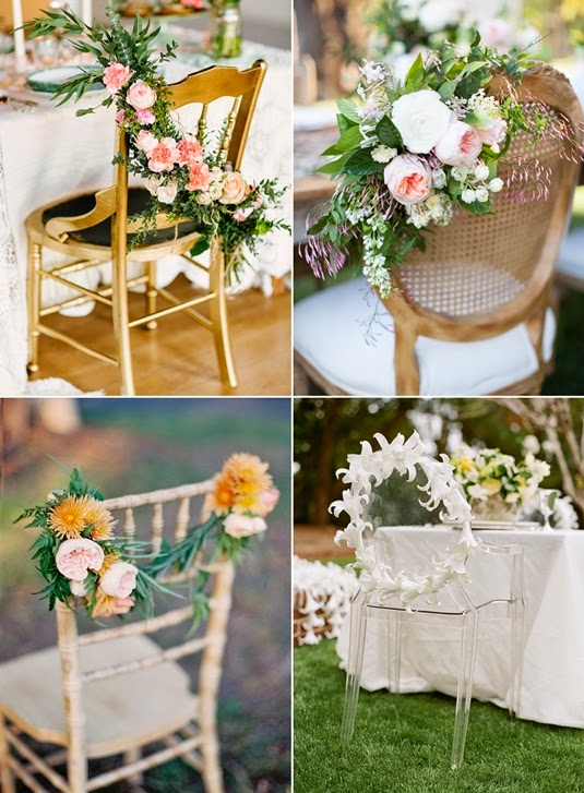 chair decorations, flower decorations chairs, blomsterdekoration stolar, stolar till bröllop,