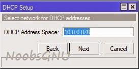 Konfigurasi DHCP Client dan Server Mikrotik