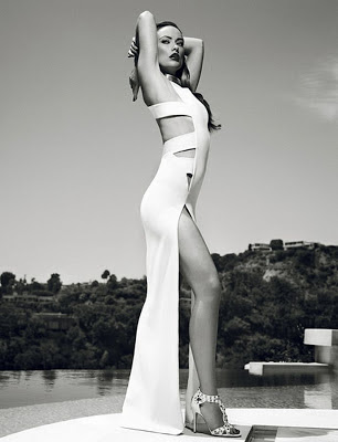 Beautiful pic of Olivia Wilde showing a sexy leg.