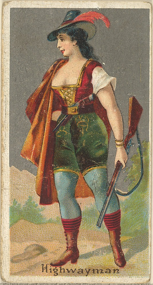 "Highwayman. Vintage tobacco card ""Occupations For Women"", via ellomennopee"