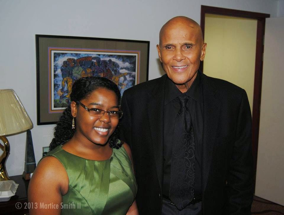 Martice with Harry Belafonte!