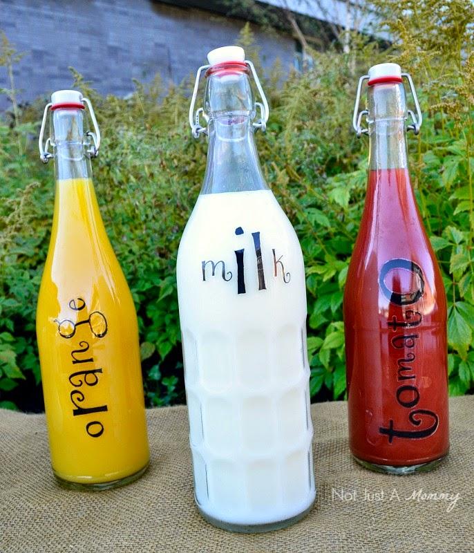 Simple Woodland-Themed Brunch for Fall beverage bottles