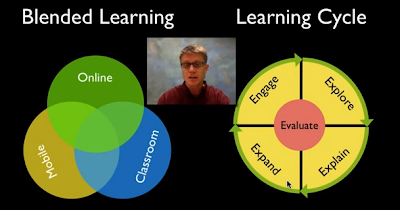 Screenshot of part of Dr. Anderson's podcast on blended learning