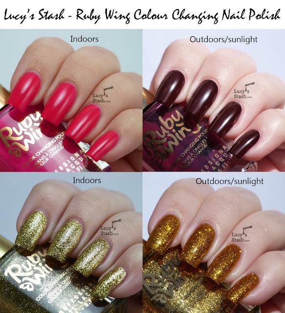 Lucy's Stash - Ruby Wing Colour Changing Nail polish