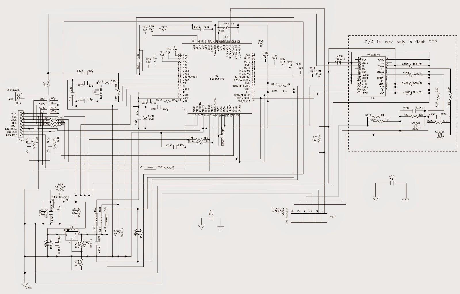 philips az1134  u2013 mp3  u2013 cd sound machine   schematic