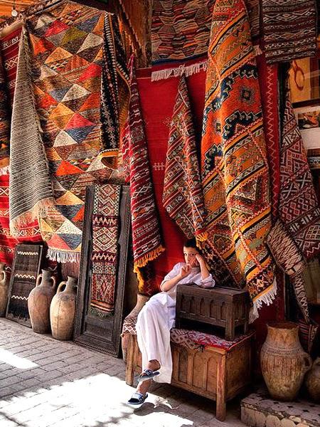 Dywany na bazarze