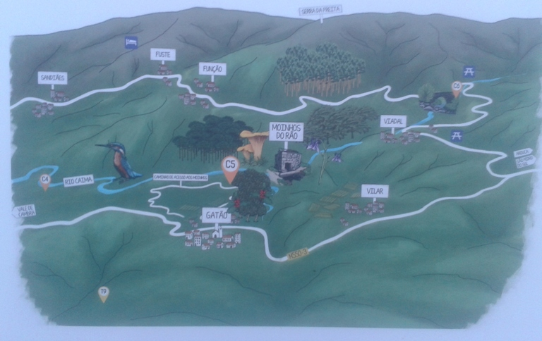 Mapa dos Moinhos do Rão