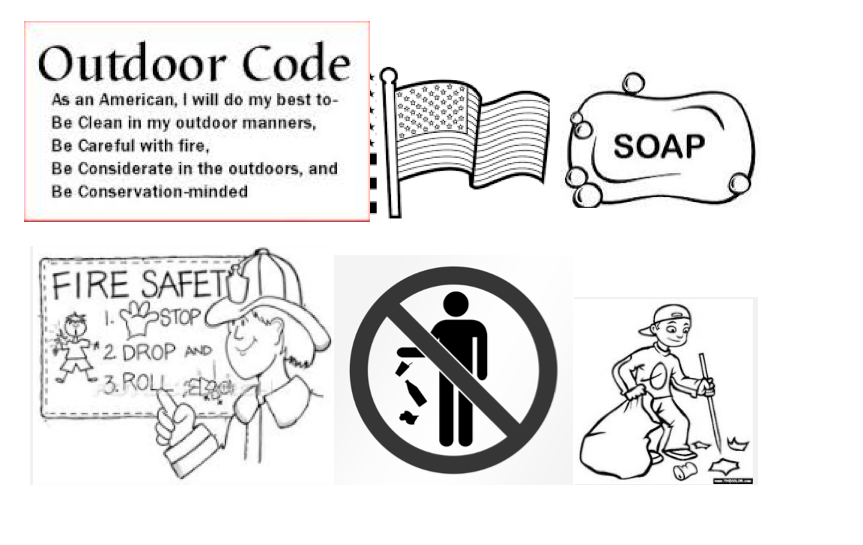 picture about Cub Scout Outdoor Code Printable referred to as Wiggle, Poke, Chortle, Zoom: Webelos Memory Assists for Go away