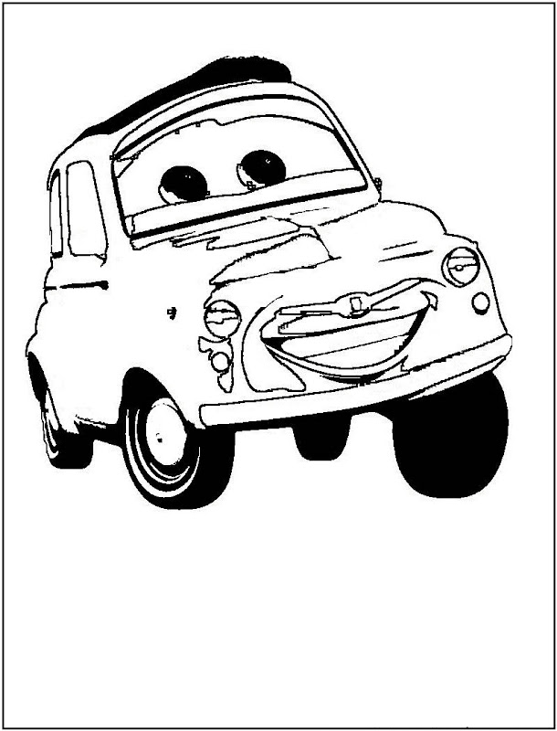Disney Cars Coloring Pages For Kids title=