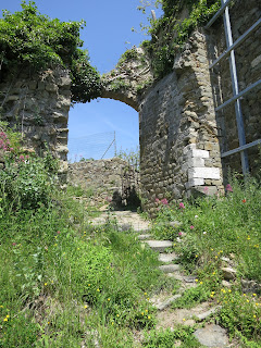 Ruins of Moneta Castle, Carrara Italy