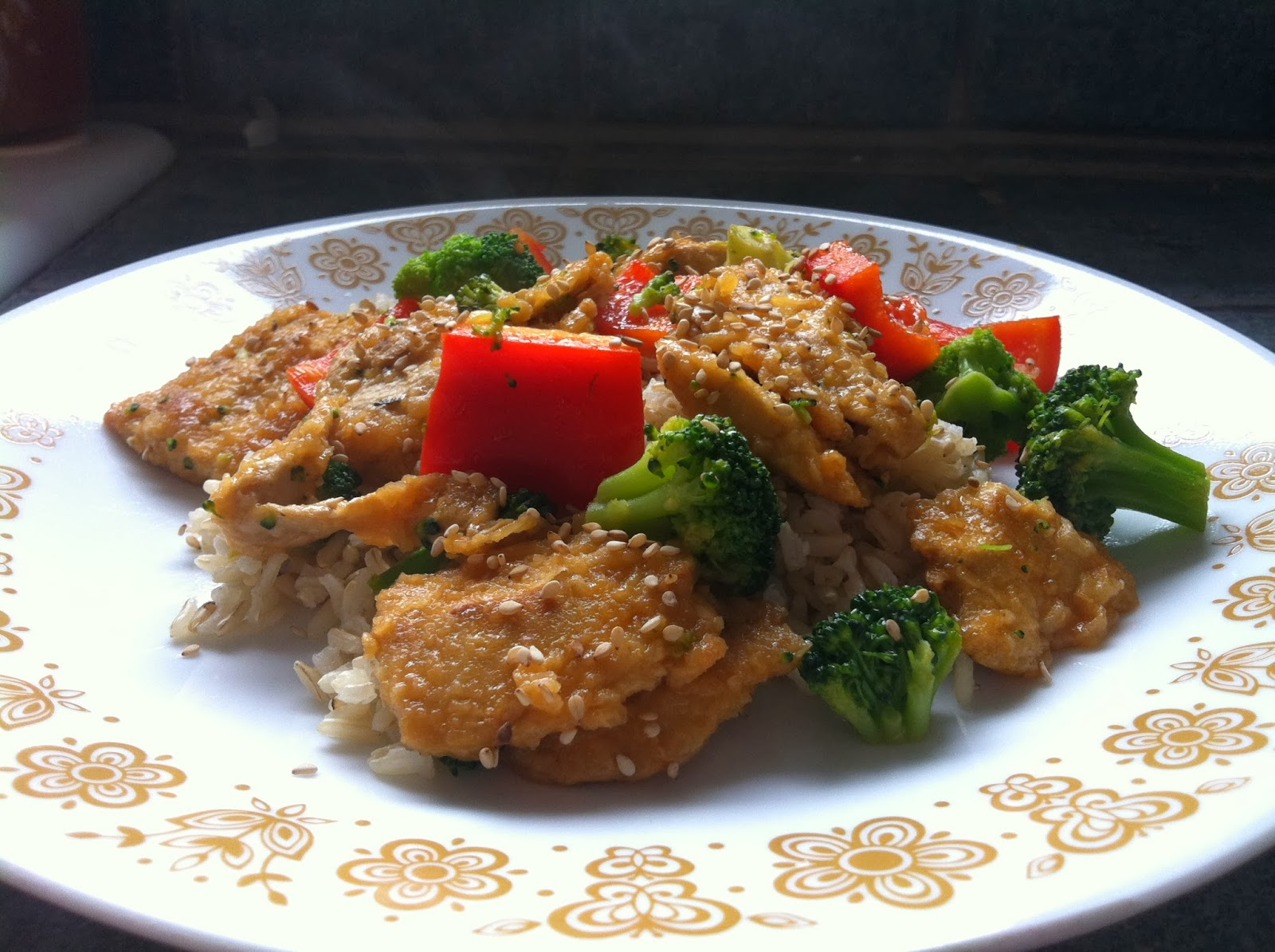 Vegetarian Vegan Gardein Mandarin Orange Crispy Chiken