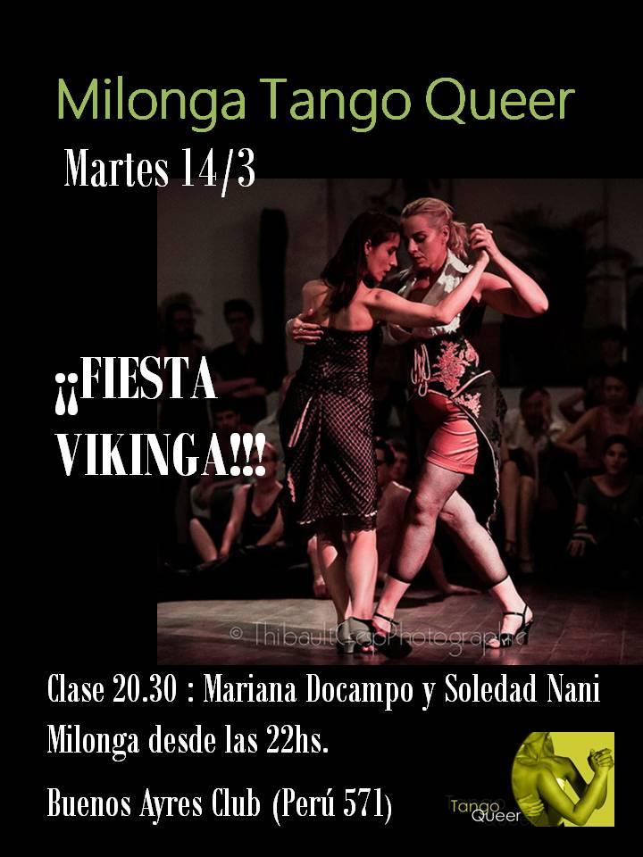 14/3 FIESTA VIKINGA en la Queer!!