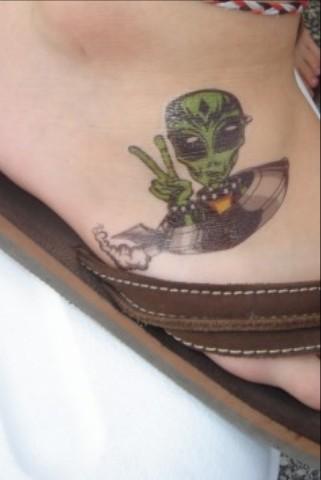 alien tattoos