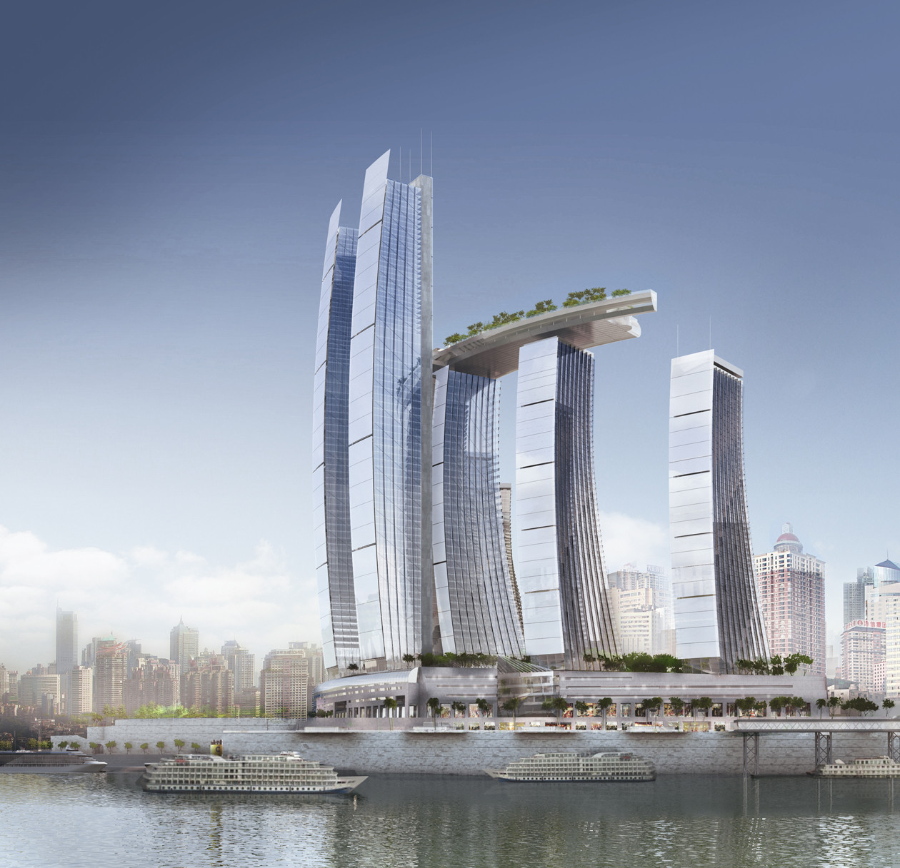 architectural drawings of skyscrapers. Contemporary Skyscrapers Photo Of New Complex Skyscrapers As Seen From The Across River Inside Architectural Drawings Of Skyscrapers