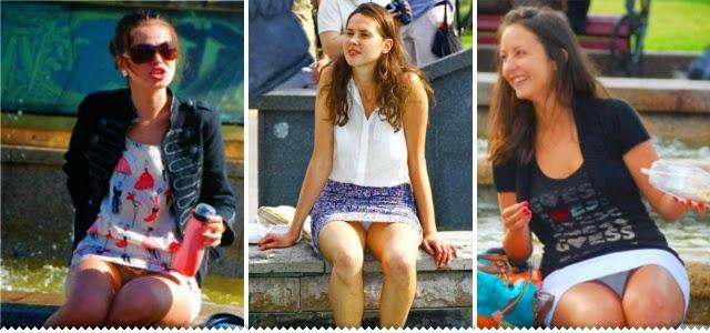 Hipernovas: Algumas mulheres se esquecem de que estão usando saia (50 Imagens)