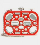 Miu Miu red clutch with rhinestones, Miu Miu embellished clutch handbag, Miu Miu rhinestone purse, red rhinestone shoulder bag, red and crystal designer purse, holiday 2014 handbags, cocktail party clutch