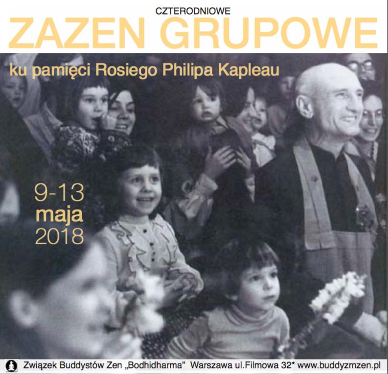 Majowe zazen grupowe ku pamięci Rosiego Philipa Kapleau