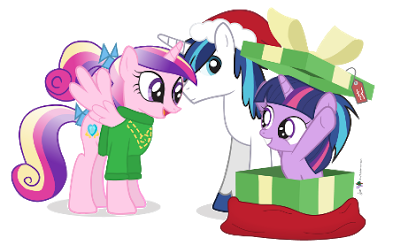 """It's the best present ever!"" squealed both Cadence and Li'l Twilight. Merry Christmas / Happy Hearth's Warming to all. May you also get the best gift ..."