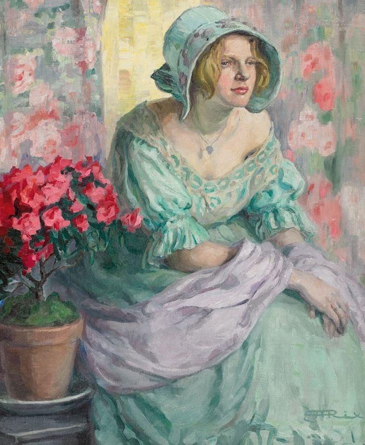 Hilda Rix Nicholas Picardy girl