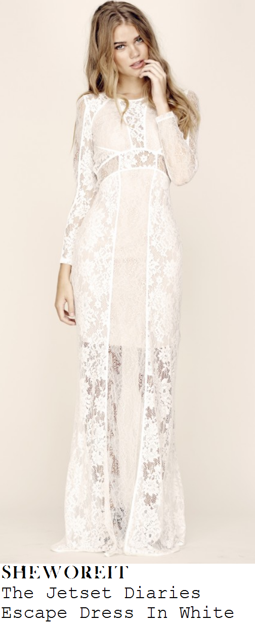 llauren-pope-white-sheer-floral-lace-long-sleeve-maxi-dress-towie