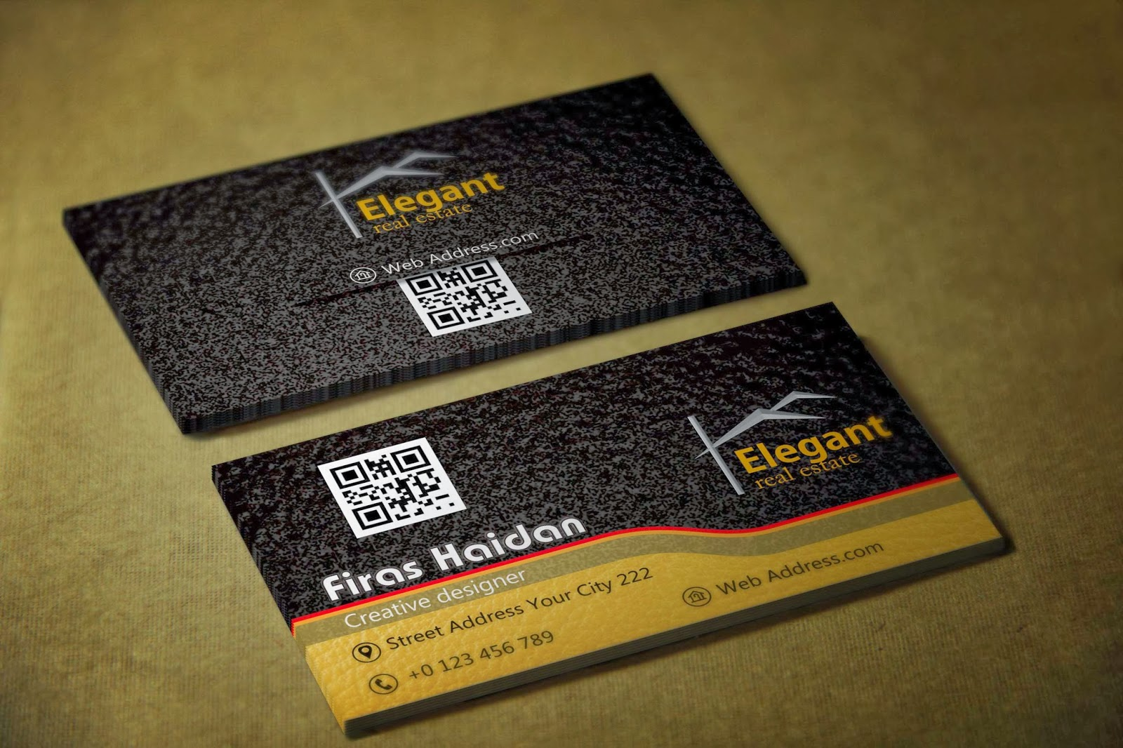 Coreldraw visiting card - Real Estate Business Cards