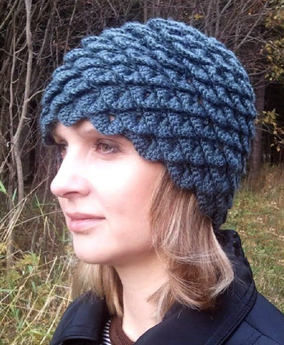 Шапочка с шишечками.  Knit crochet beanie with bumps