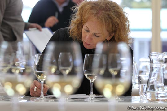 Joelle Thomson, winemaker, Auckland, one of the judges for the Hawke's Bay A&P Bayleys Wine Awards, at EIT Eastern Institute of Technology, Taradale, Napier. photograph