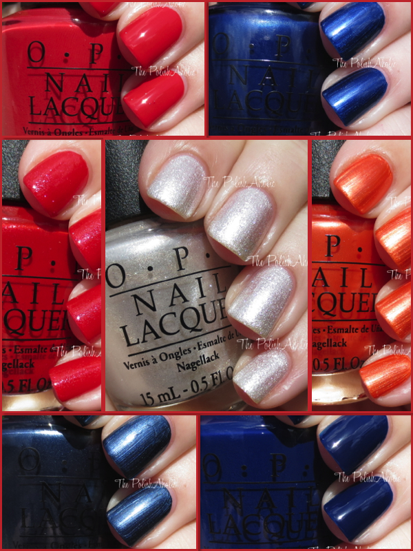 OPI MLB Collection Swatches Review