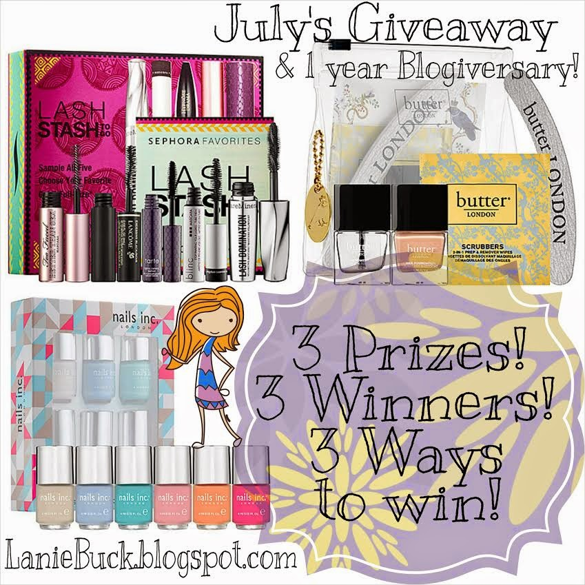 http://laniebuck.blogspot.com/2014/07/july-giveaway-1-year-blogiversary-3.html
