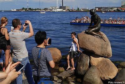 den lille havfrue, den lilla sjöjungfrun, the little mermaid, staty, statue, köpenhamn, copenhagen, København, langelinie