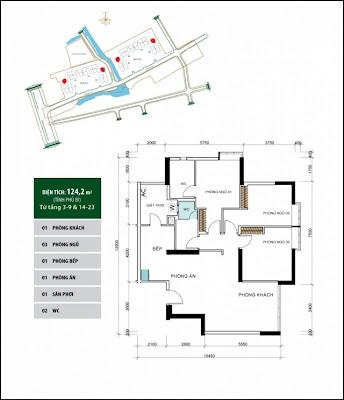 Căn hộ 124,2 m2